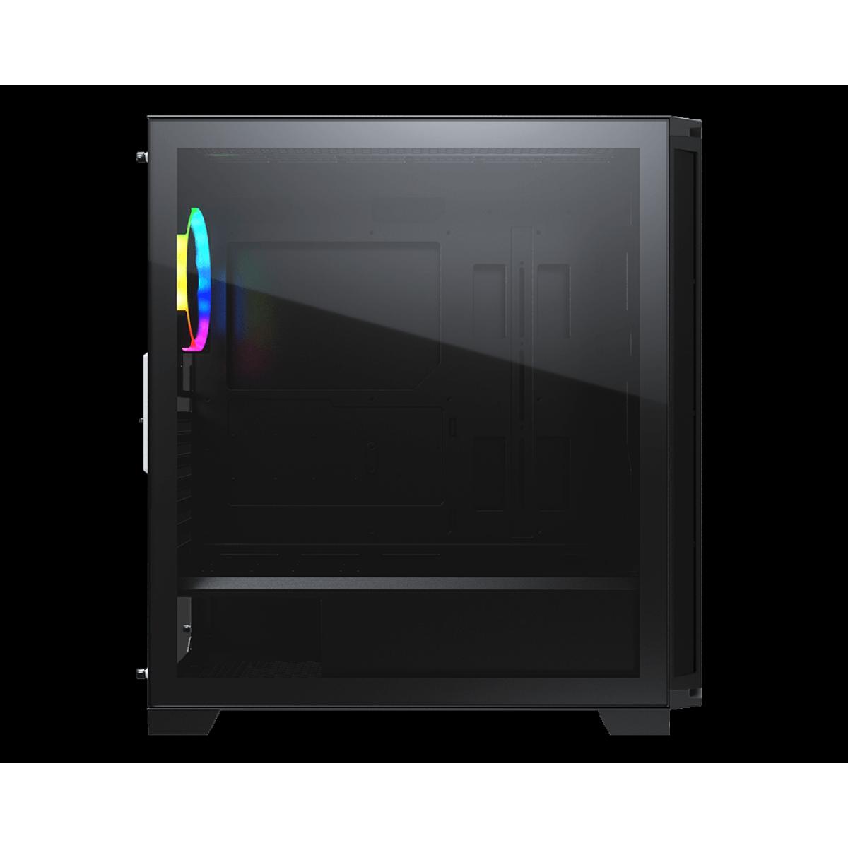 Gabinete Gamer Cougar DarkBlader X7, Mid Tower, Vidro Temperado, RGB, Translucent Black, Com 1 Fan, Sem Fonte, 385UM30.0004