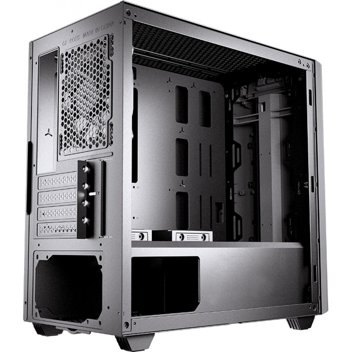 Gabinete Gamer Cougar Gemini M Iron Grey, Mini Tower, Vidro Temperado, Black, Sem Fonte, Com 1 Fan - Open Box
