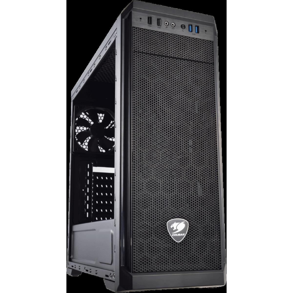 Gabinete Gamer Cougar MX330 385NC10.0002 Lateral em Acrílico Mid Tower Preto S/Fonte