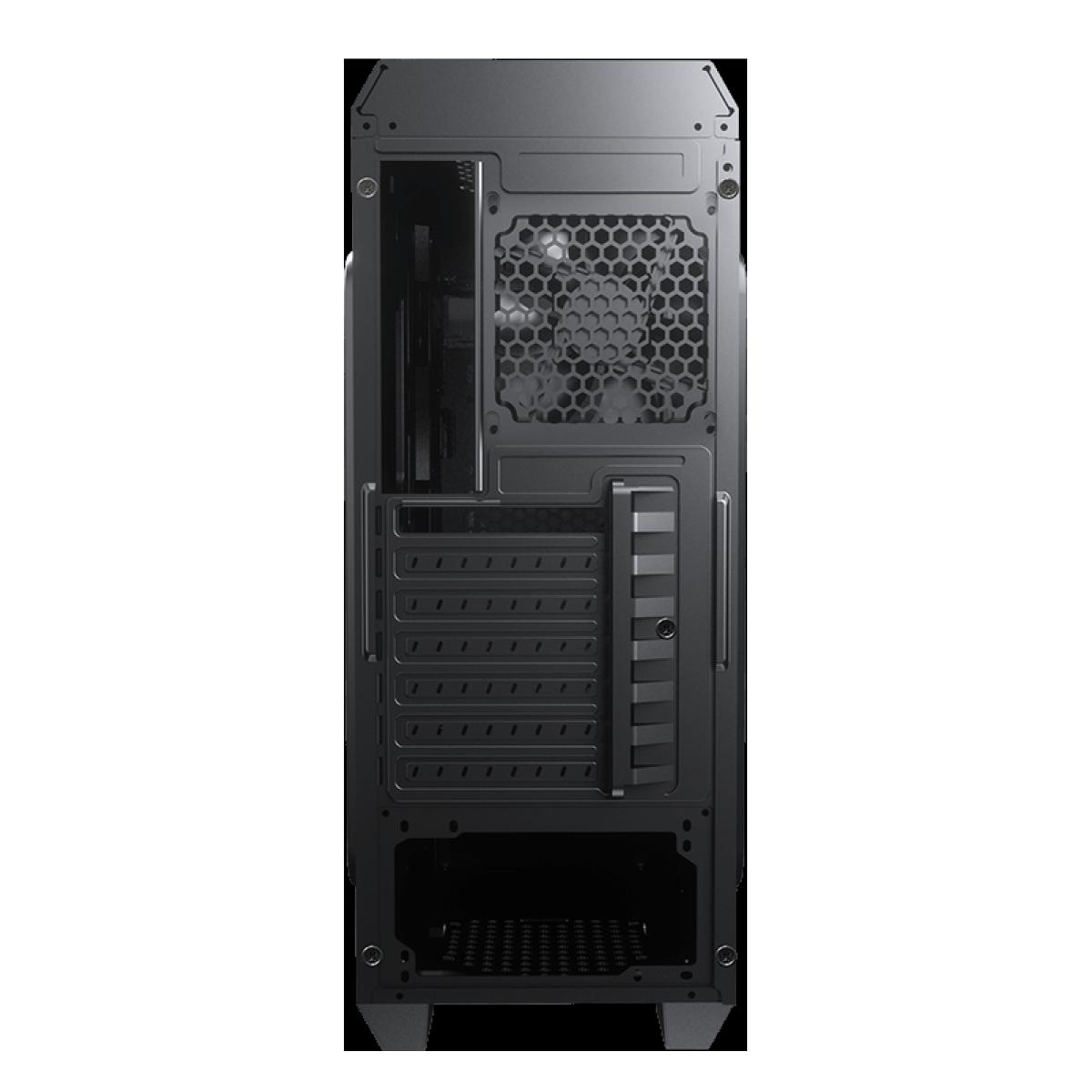 Gabinete Gamer Cougar, MX331 Mesh-X, Mid Tower, Black, ATX, Sem Fonte, Com 1 Fan, 385NC20.0001