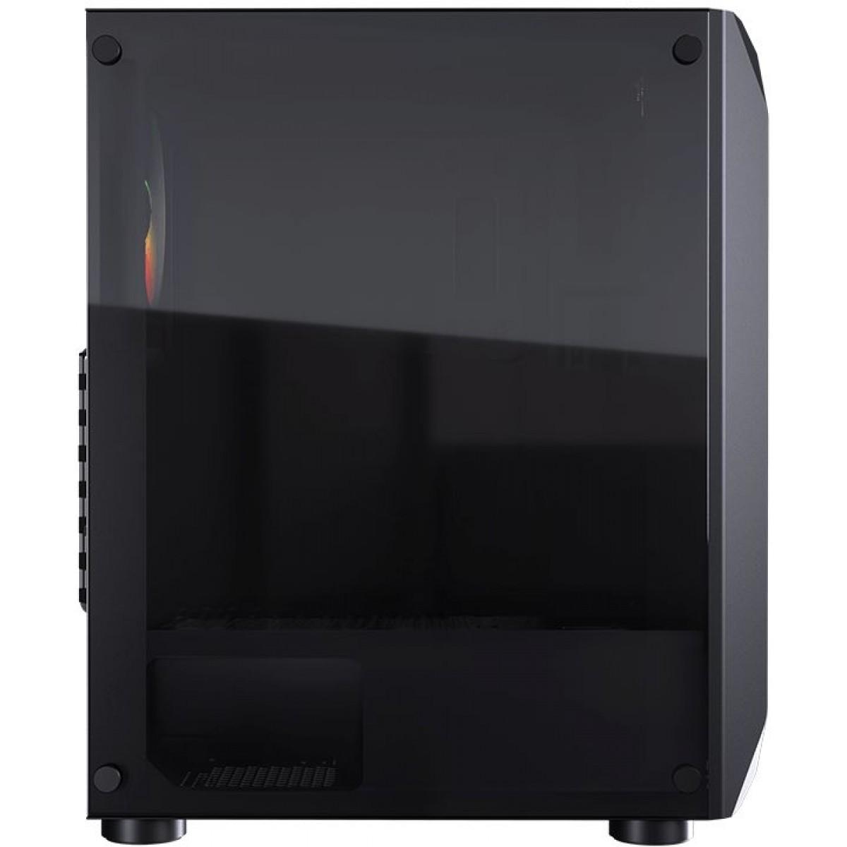 Gabinete Gamer Cougar MX410, Mid-Tower, 1 Fan, Acrilico, S-fonte, 385VM60-0005