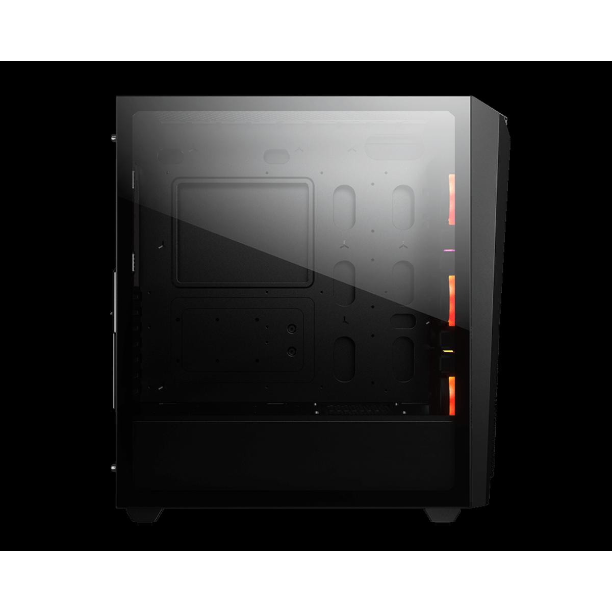 Gabinete Gamer Cougar, MX660 Mesh RGB, Mid Tower, Vidro Temperado, Black, Com 3 Fans, Sem Fonte, 385BMS0-0004