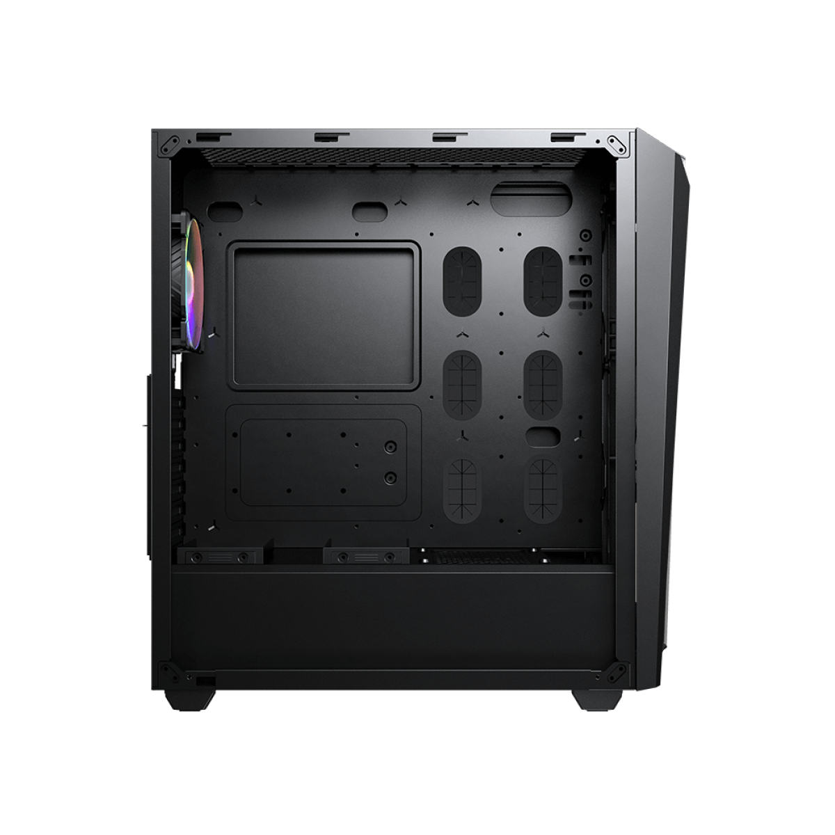 Gabinete Gamer Cougar, MX660-T, Mid Tower, Vidro Temperado, Black, Com 1 Fan, Sem Fonte, 385BMS0.0002
