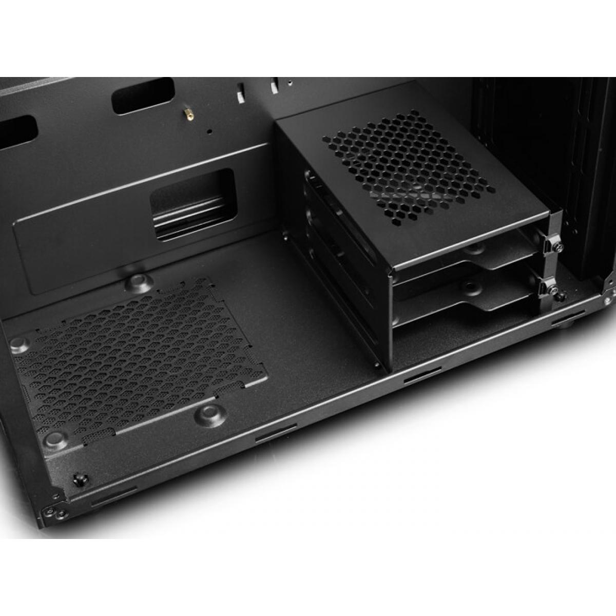 Gabinete Gamer DeepCool D-Shield V2, Mid Tower, Com 1 Fan, Back, Sem Fonte, DP-ATX-DSHIELD-V2
