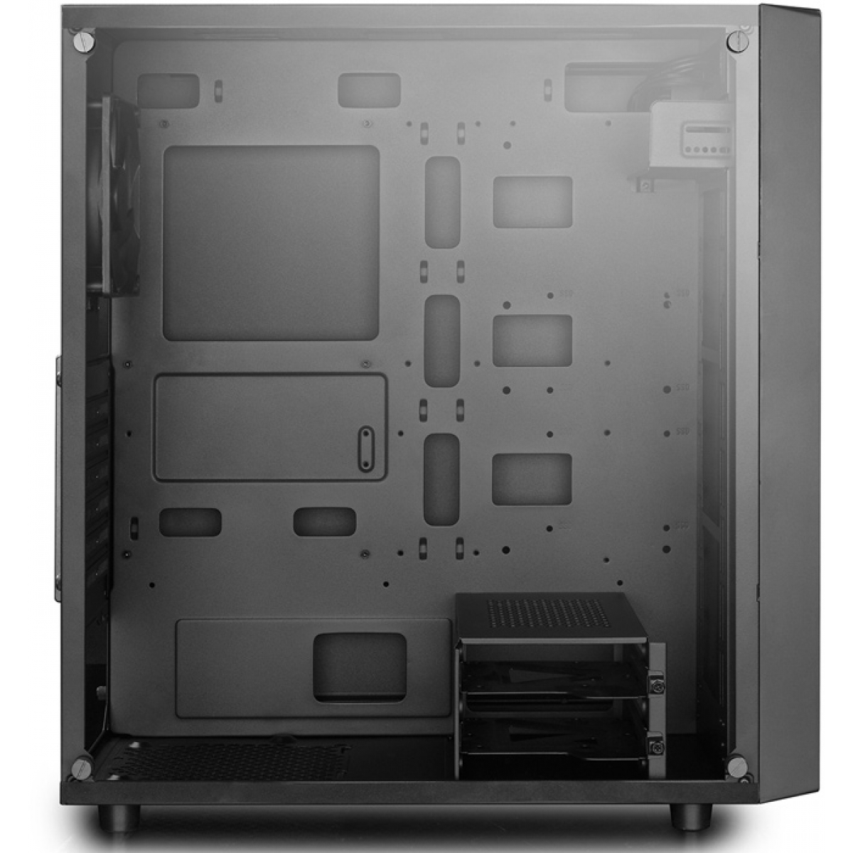Gabinete Gamer DeepCool E-Shield, Mid Tower, Com 1 Fan, Back, Sem Fonte, DP-ATX-E-SHIELD