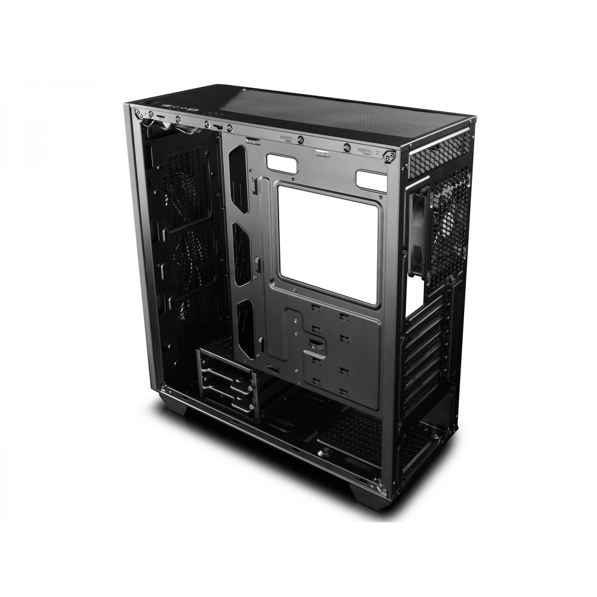 Gabinete Gamer DeepCool Earlkase RGB, Mid Tower, Com 2 Fans, Vidro Temperado, Black, S-Fonte, EARLKASERGB
