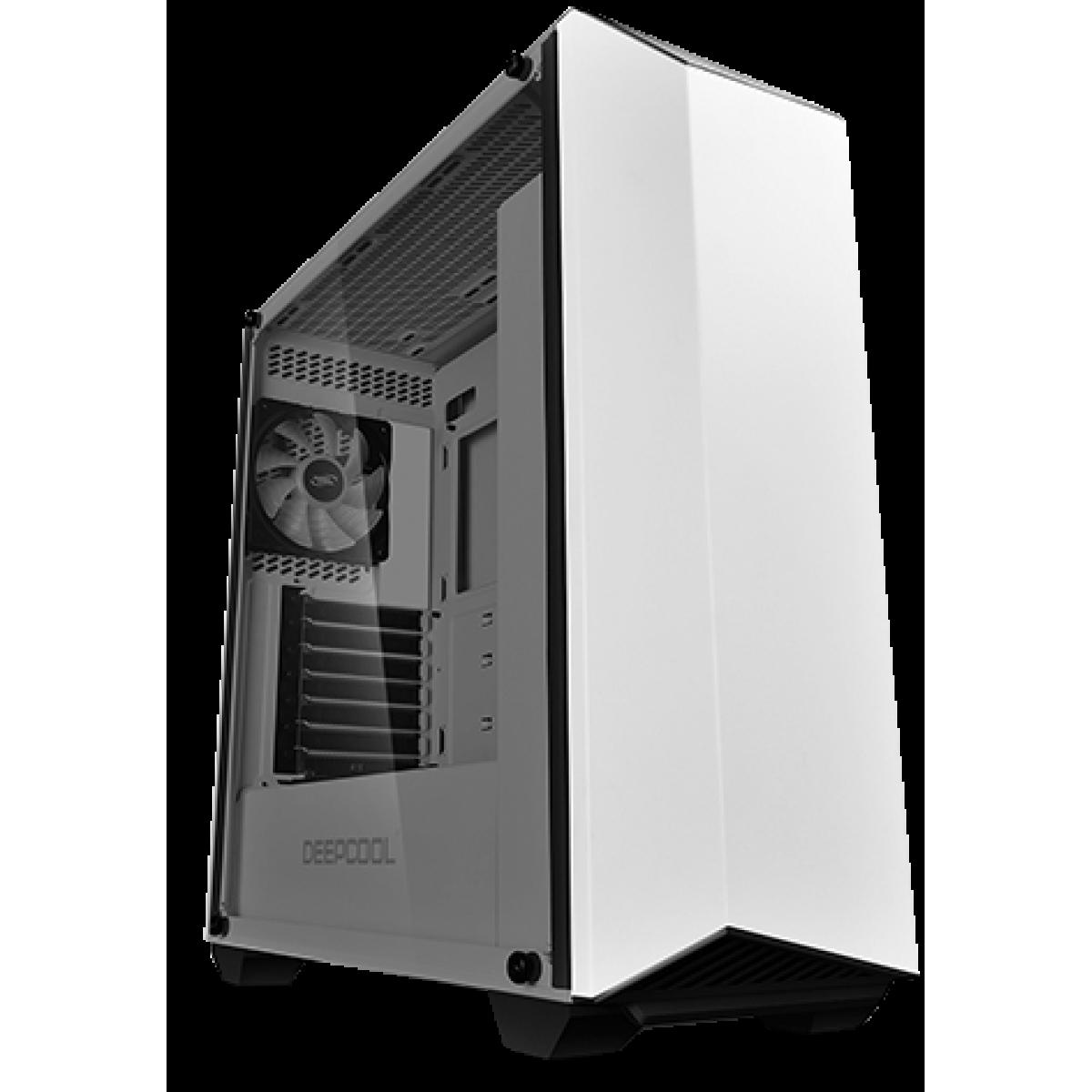 Gabinete Gamer DeepCool Earlkase RGB WH, Mid Tower, Com 2 Fans, Vidro Temperado, White, Sem Fonte, EARLKASERGBWH