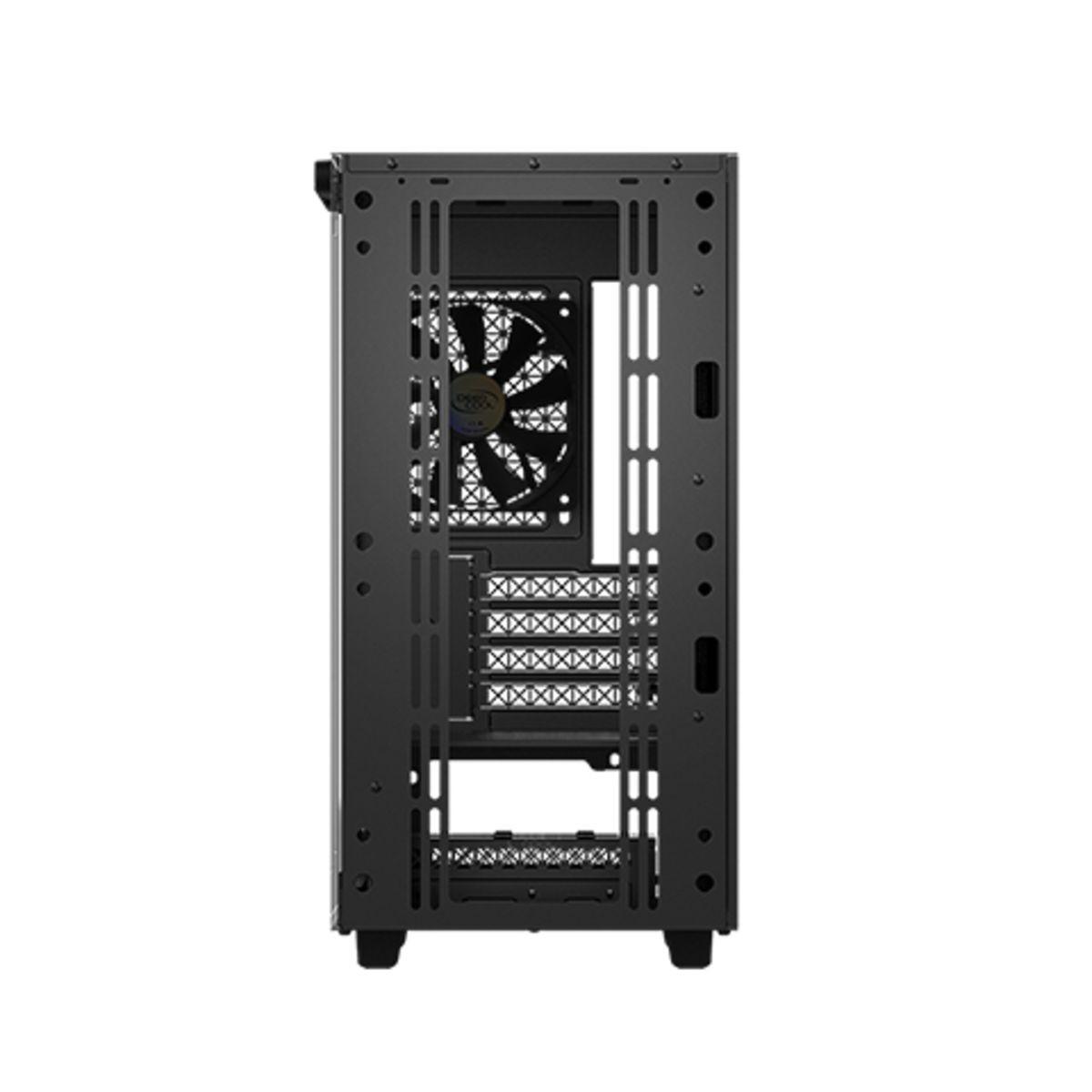 Gabinete Gamer DeepCool Macube 110, Mini Tower, Vidro Temperado, Black, Sem Fonte, Com 1 Fan, R-MACUBE110-BKNGM1N-G-1