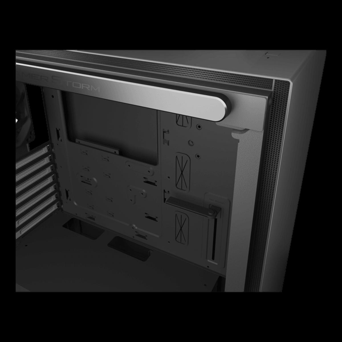 Gabinete Gamer DeepCool Macube 310, Mid Tower, Com 1 Fan, Vidro Temperado, Black, S-Fonte, GS-ATX-MACUBE310-BKG0P