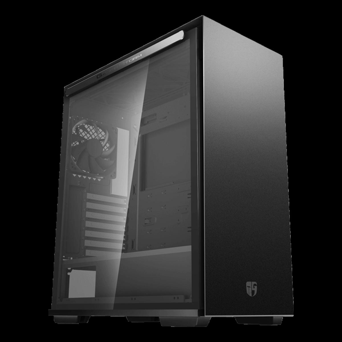 Gabinete Gamer DeepCool Macube 310, Mid Tower, Vidro Temperado, Black, Sem Fonte, Sem Fan, GS-ATX-MACUBE310-BKG0P