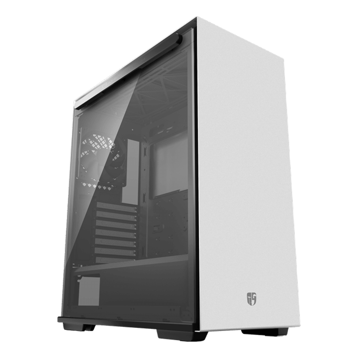 Gabinete Gamer DeepCool, Macube 310P, Mid Tower, Vidro Temperado, White, Sem Fonte, Sem Fan, GS-ATX-MACUBE310P-WHG0P