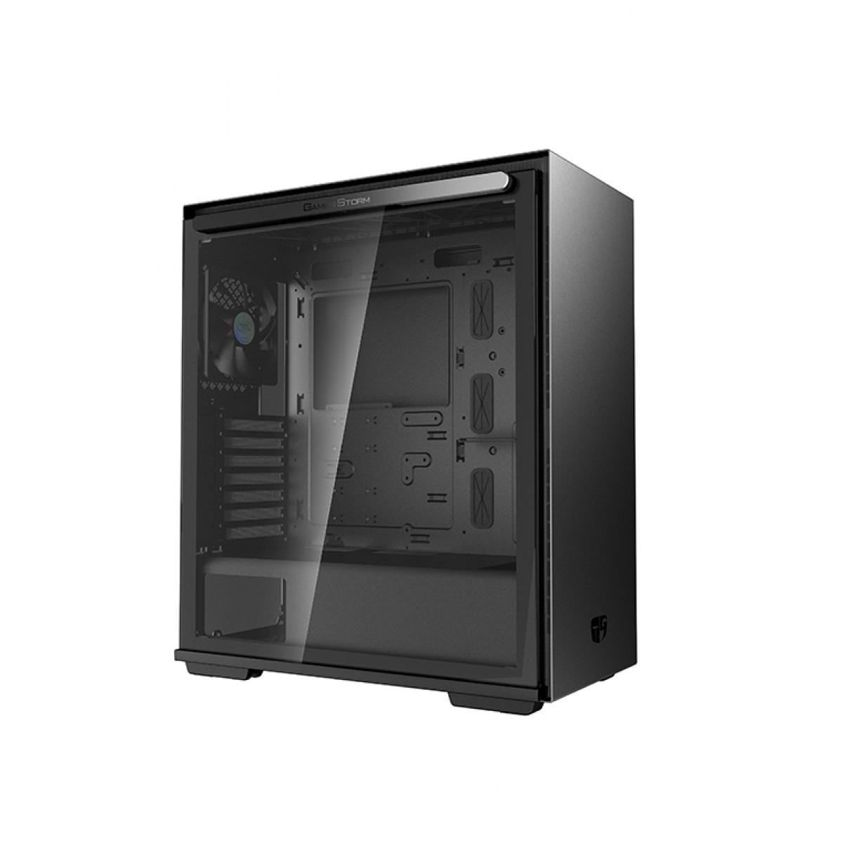 Gabinete Gamer DeepCool Macube 310P, Mid Tower, Vidro Temperado, Black, Sem Fonte, Sem Fan, GS-ATX-MACUBE310P-BKG0P