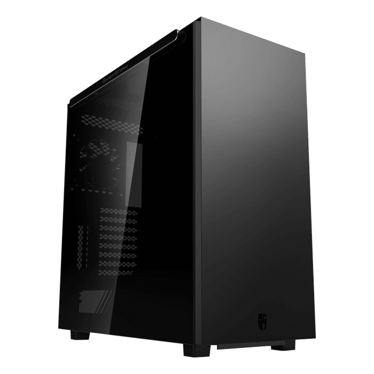 Gabinete Gamer DeepCool, Macube 550, Full Tower, Vidro Temperado, Black, Sem Fonte, Com 1 Fan, GS-ATX-MACUBE550-BKG0P