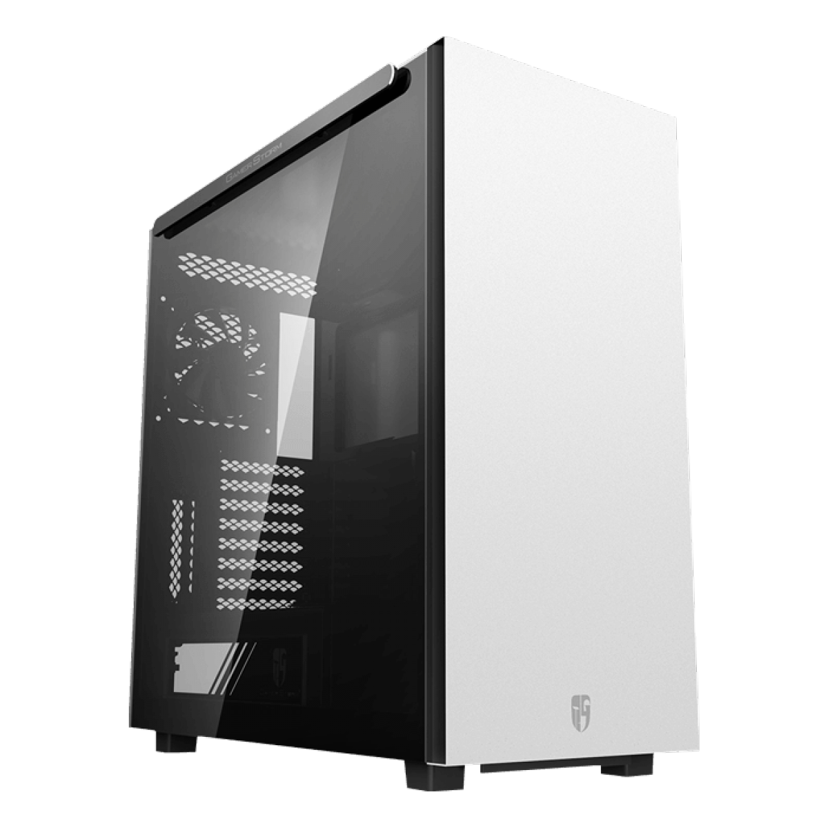 Gabinete Gamer DeepCool Macube 550, Full Tower, Vidro Temperado, White, Sem Fonte, Com 1 Fan, GS-ATX-MACUBE550-WHG0P