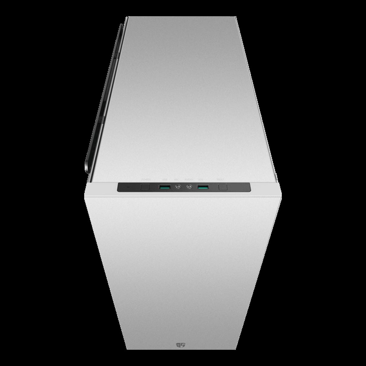 Gabinete Gamer DeepCool Macube 550, Full Tower, Vidro Temperado, White, Sem Fonte, Com 1 Fan, GS-ATX-MACUBE550-WHG0P