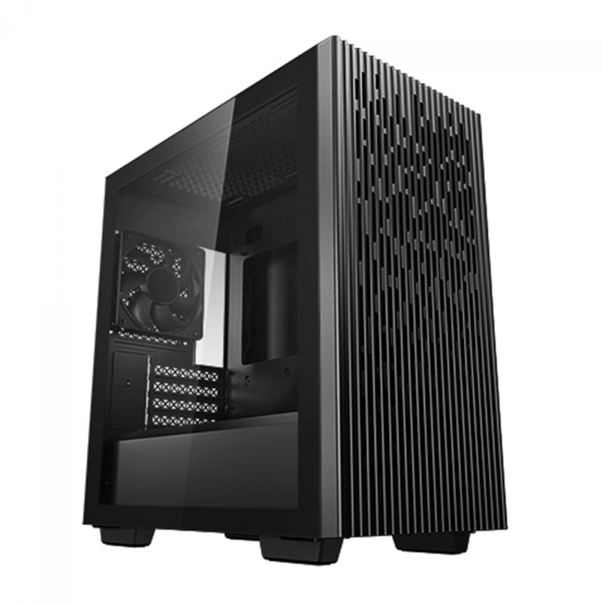 Gabinete Gamer DeepCool Matrexx 40, Mid Tower, Vidro Temperado, Black, Com 1 fan, Sem Fonte, DP-MATX-MATREXX40