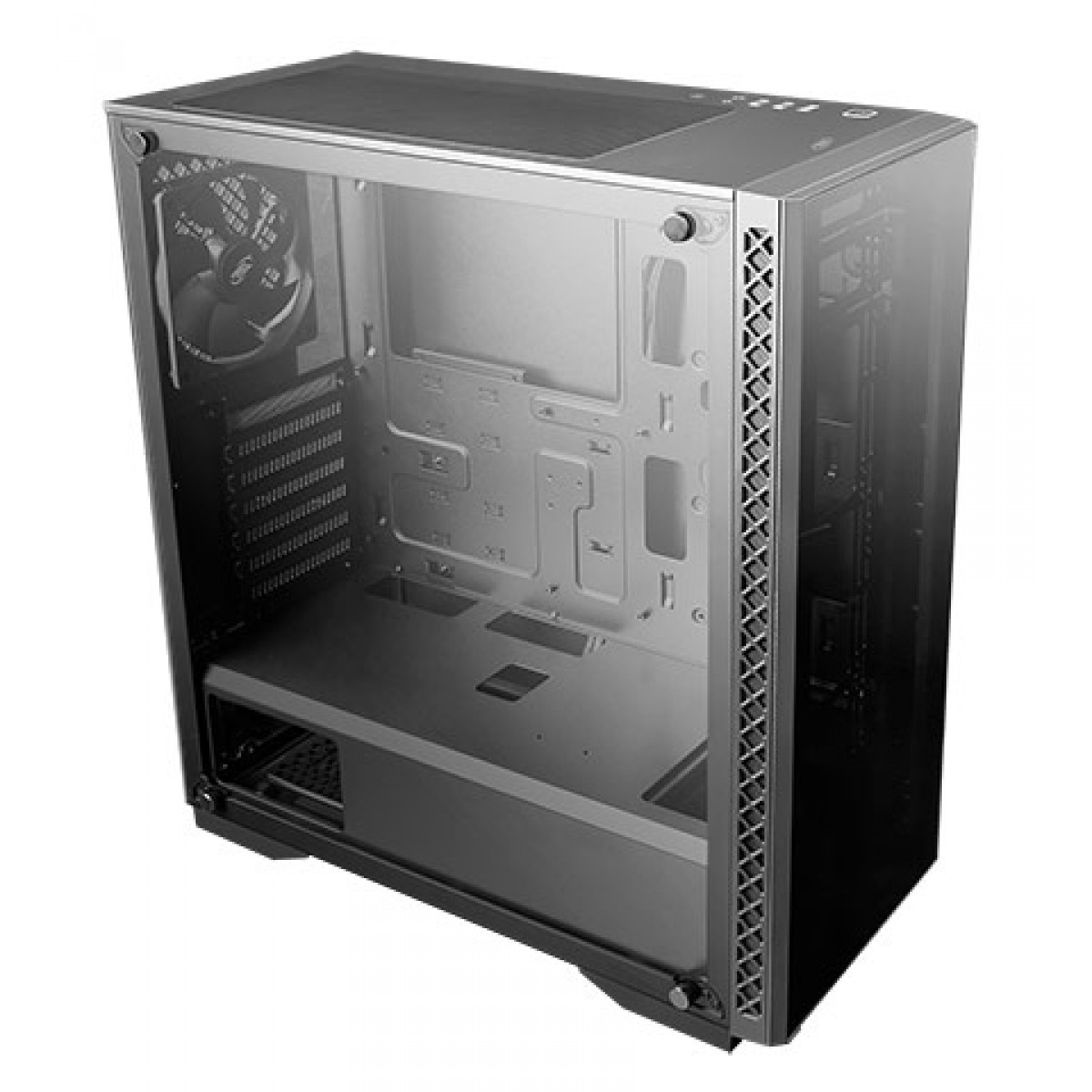 Gabinete Gamer DeepCool Matrexx 50, Mid Tower, ARGB, Vidro Temperado, Black, DP-ATX-MATREXX50-AR-3F-US, Sem Fonte, Com 3 Fans