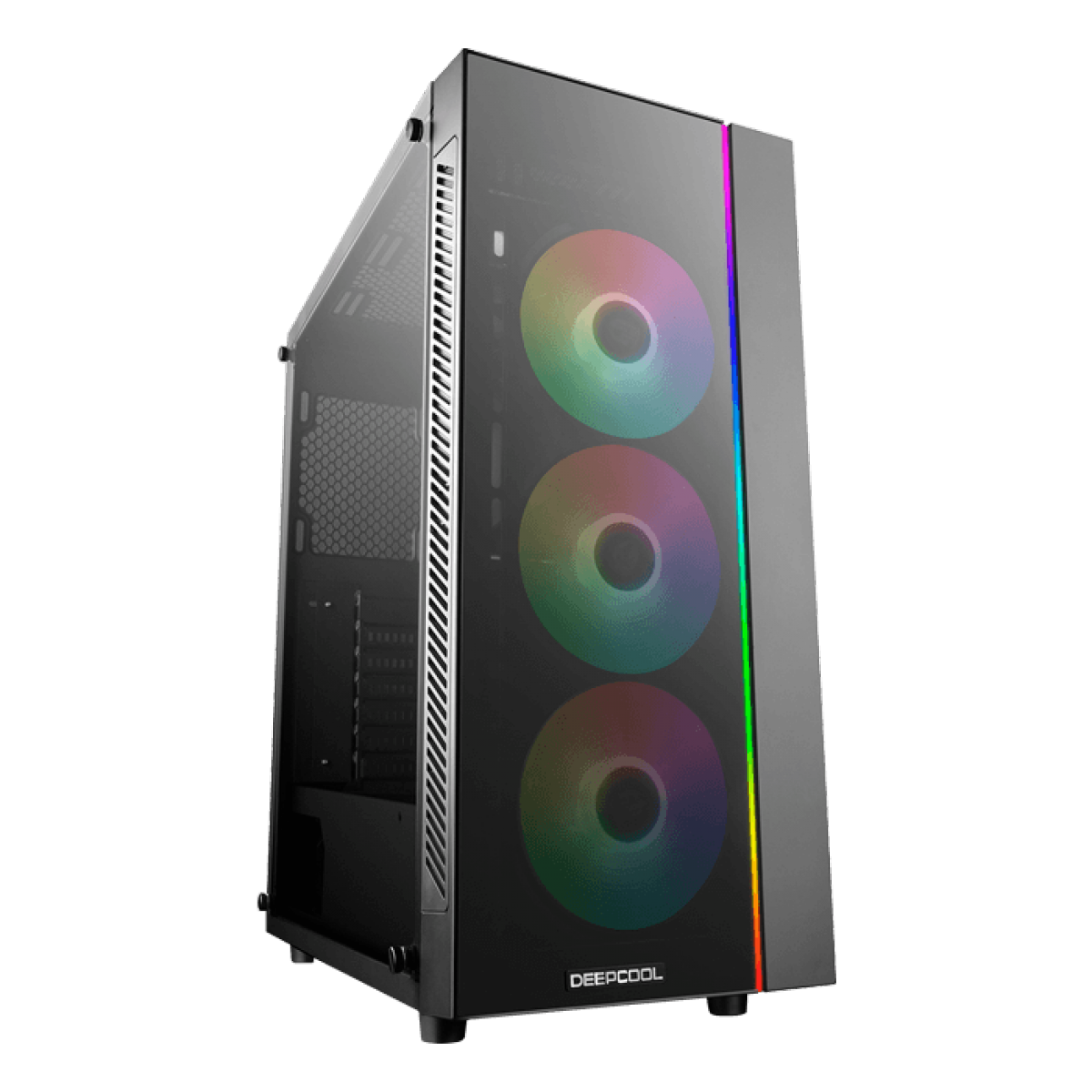 Gabinete Gamer DeepCool MATREXX 55 ADD-RGB, Mid Tower, Vidro Temperado, Black, Sem Fonte, Com 3 Fans