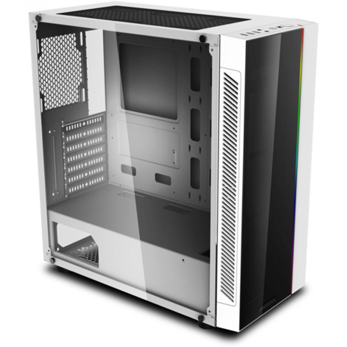Gabinete Gamer DeepCool MATREXX 55 ADD-RGB, Mid Tower, Sem Fan, Vidro Temperado, White, Sem Fonte, MATREXX 55 ADD-RGB WH