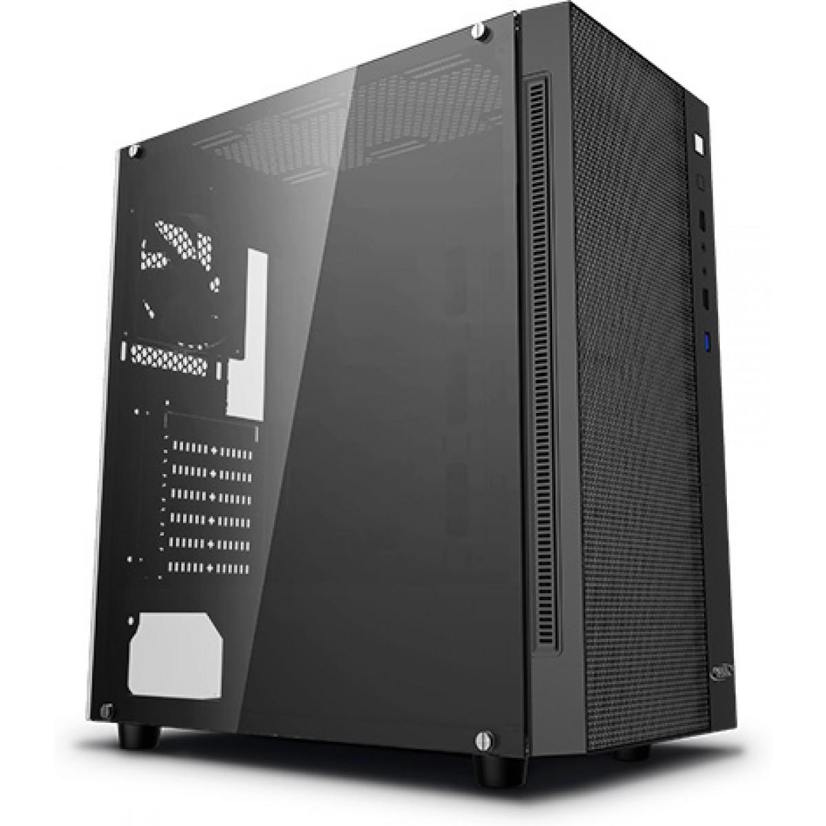 Gabinete Gamer DeepCool Matrexx 55 Mesh, Mid Tower, Vidro temperado, Black, Sem Fonte, Sem Fan, DP-ATX-MATREXX55-MESH