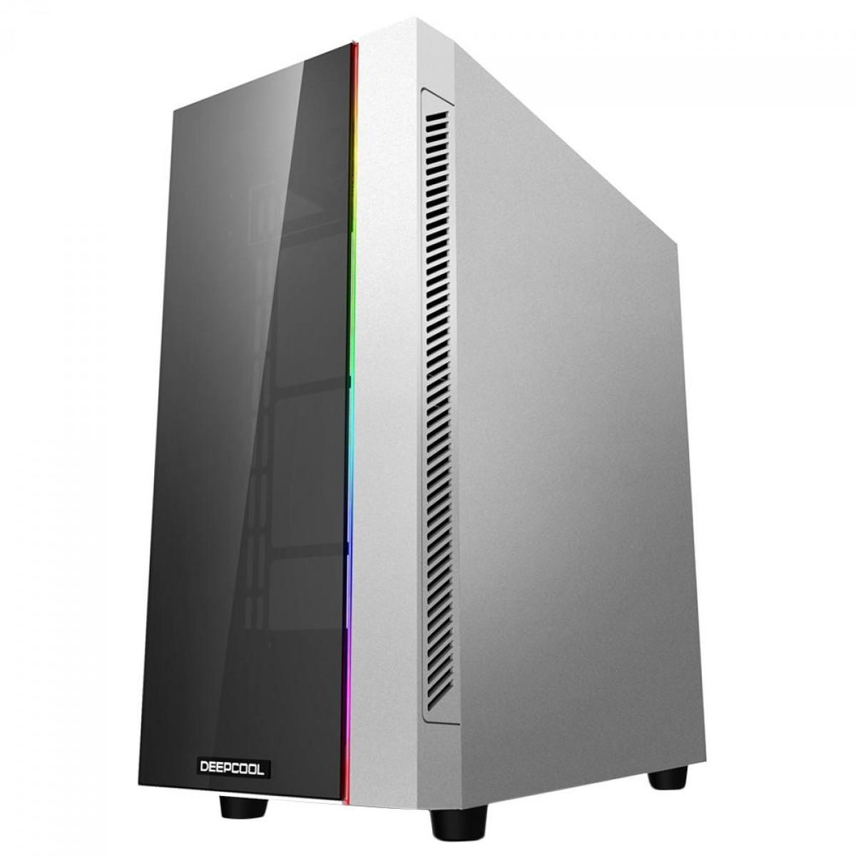 Gabinete Gamer DeepCool Matrexx 55 V3, ARGB, Mid Tower, Vidro Temperado, White, Sem Fonte, Sem Fan, DP-ATX-MATREXX55-AR-WH