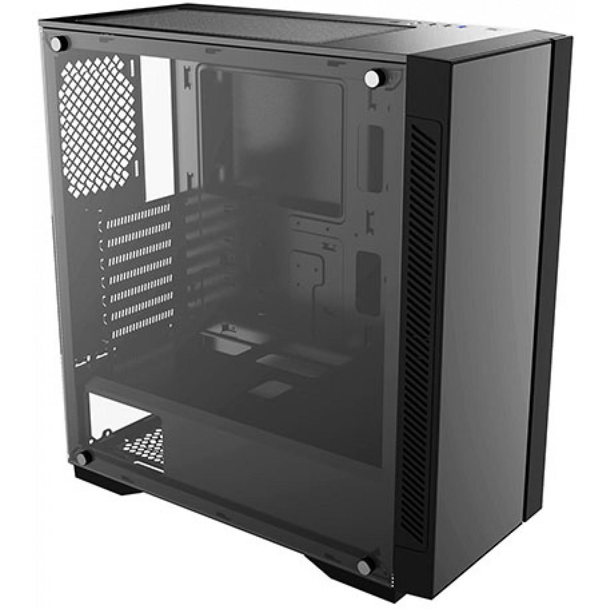Gabinete Gamer DeepCool Matrexx 55 V3, Mid Tower, Vidro Temperado, Black, DP-ATX-MATREXX55V3, Sem Fonte, Sem Fan