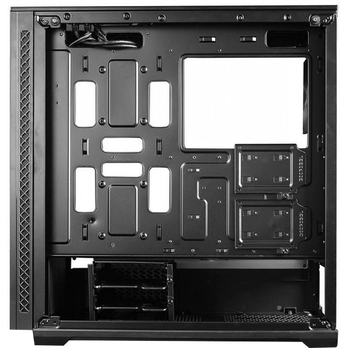 Gabinete Gamer DeepCool Matrexx 70 RGB 3F, Mid Tower, Black, Sem Fonte, DP-ATX-MATREXX70-BKG0P-3F