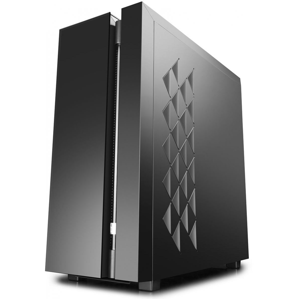 Gabinete Gamer DeepCool New Ark 90, Full Tower, Com Water Captain 280mm RGB, Vidro Temperado, Black, S-Fonte, DP-ATXLCS-NARK90BK