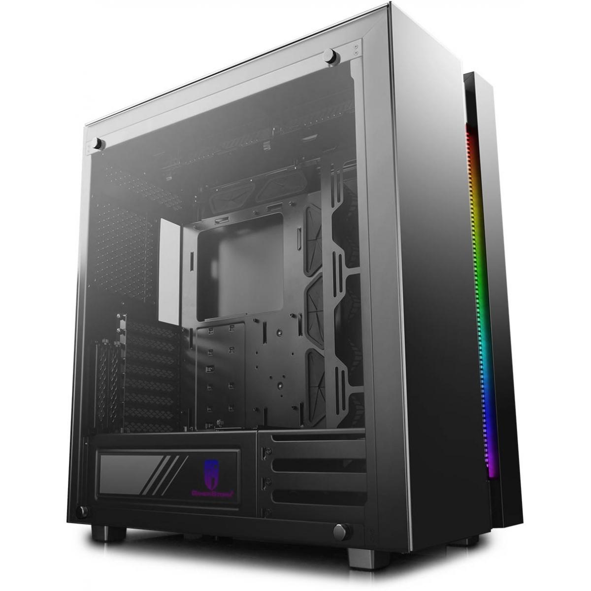 Gabinete Gamer DeepCool New Ark 90SE RGB, Mid Tower, Vidro Temperado, Black, DP-ATX-NARK90SE, Sem Fonte, Sem Fan