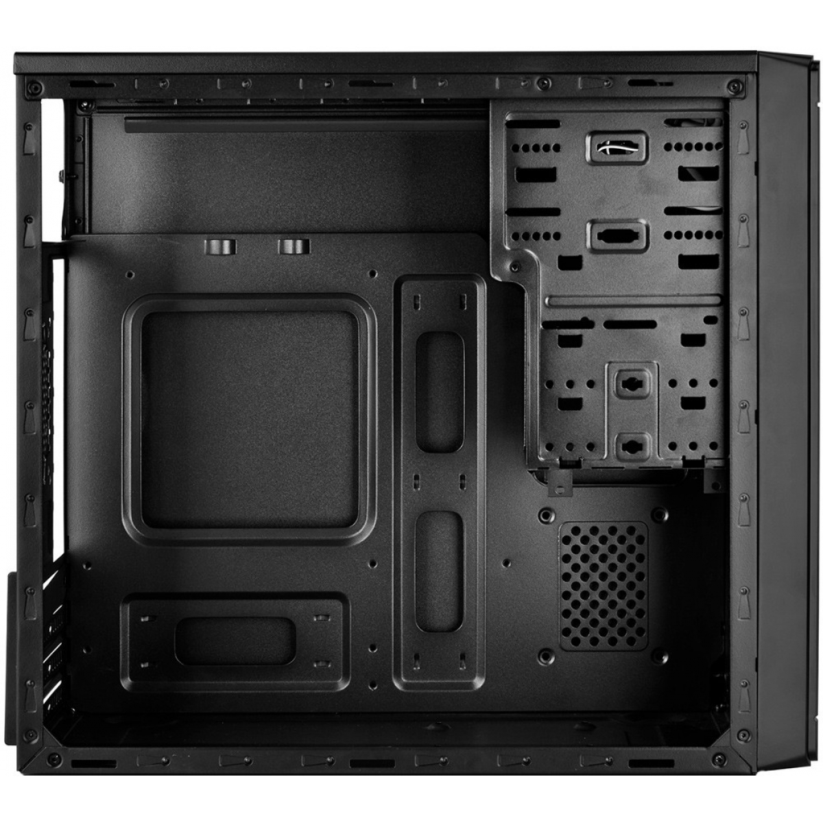 Gabinete Gamer DeepCool Wave V2, Mid Tower, Black, Sem Fonte, DP-MATX-DPWAVE2