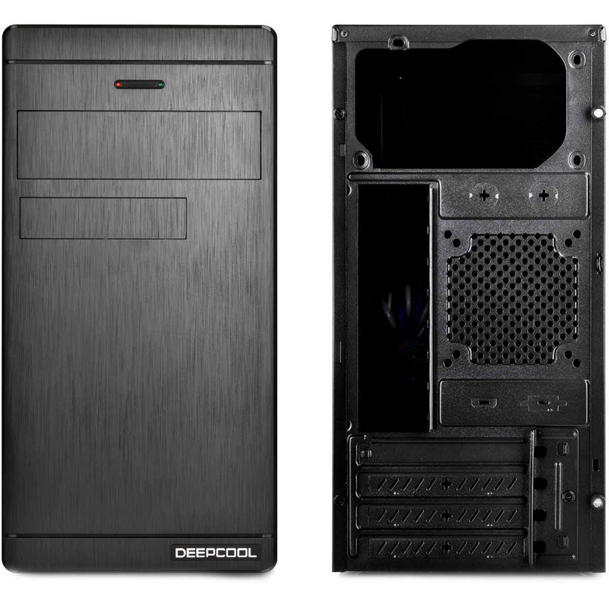 Gabinete Gamer DeepCool Wave V2, Mid Tower, Black, S-Fonte, DP-MATX-DPWAVE2