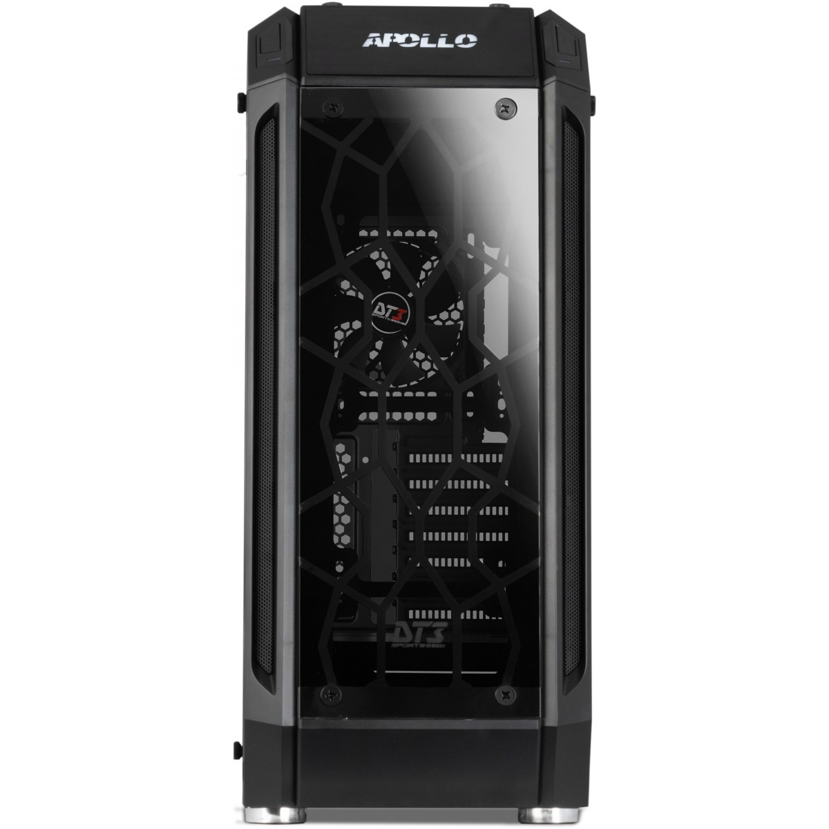 Gabinete Gamer DT3 Sports Apollo SYNC, Mid Tower, S-Fan, Vidro Temperado, Black, S-Fonte