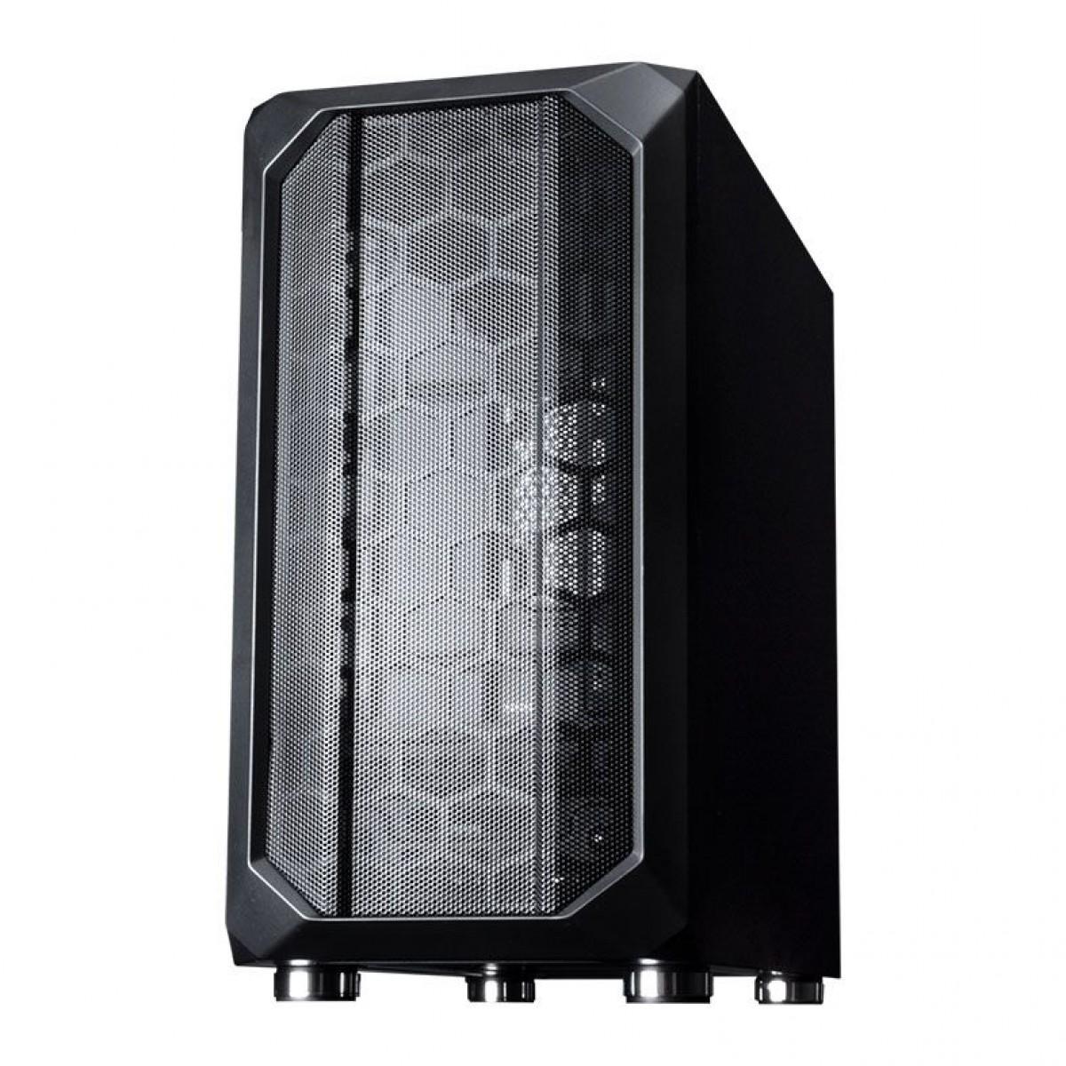 Gabinete Gamer Galax Nebulosa, Mid Tower, Vidro Temperado, Sem Fan, Black, Sem Fonte, GX700