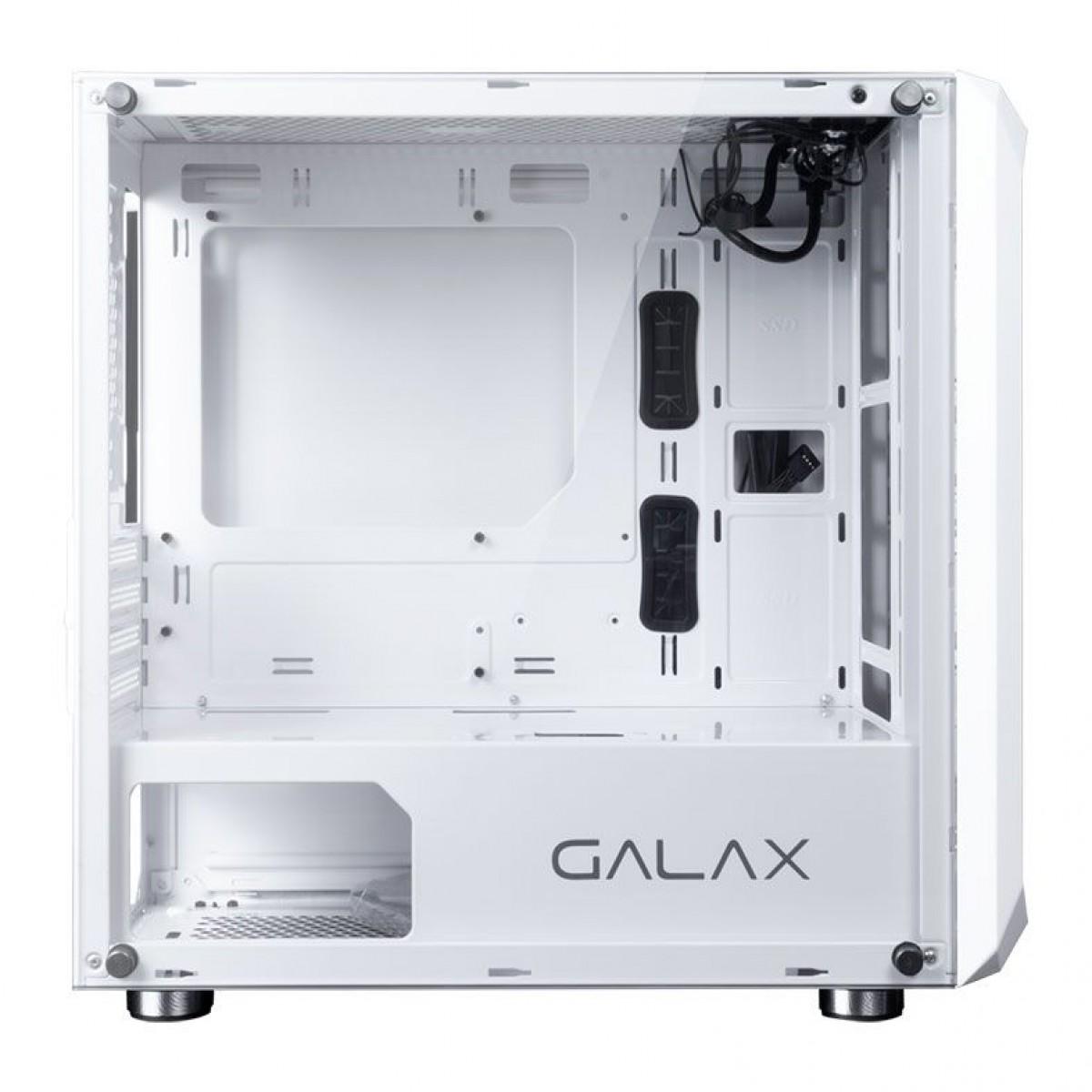 Gabinete Gamer Galax Nebulosa, Mini Tower, Vidro Temperado, White, Sem Fonte, Sem Fan, GX700 WH