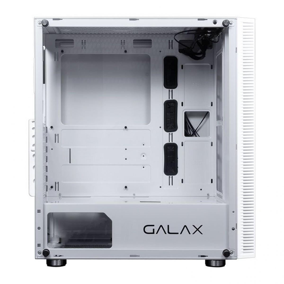 Gabinete Gamer Galax Quasar RGB, Mid Tower, Vidro Temperado, White, Sem Fonte, Sem Fan, GX600 WH