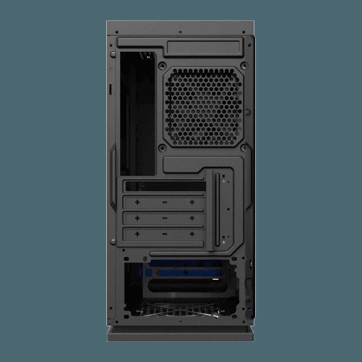 Gabinete Gamer Gamemax Black Expedition, Mid Tower, Black, Sem Fonte, Com 1 Fan Blue, H605