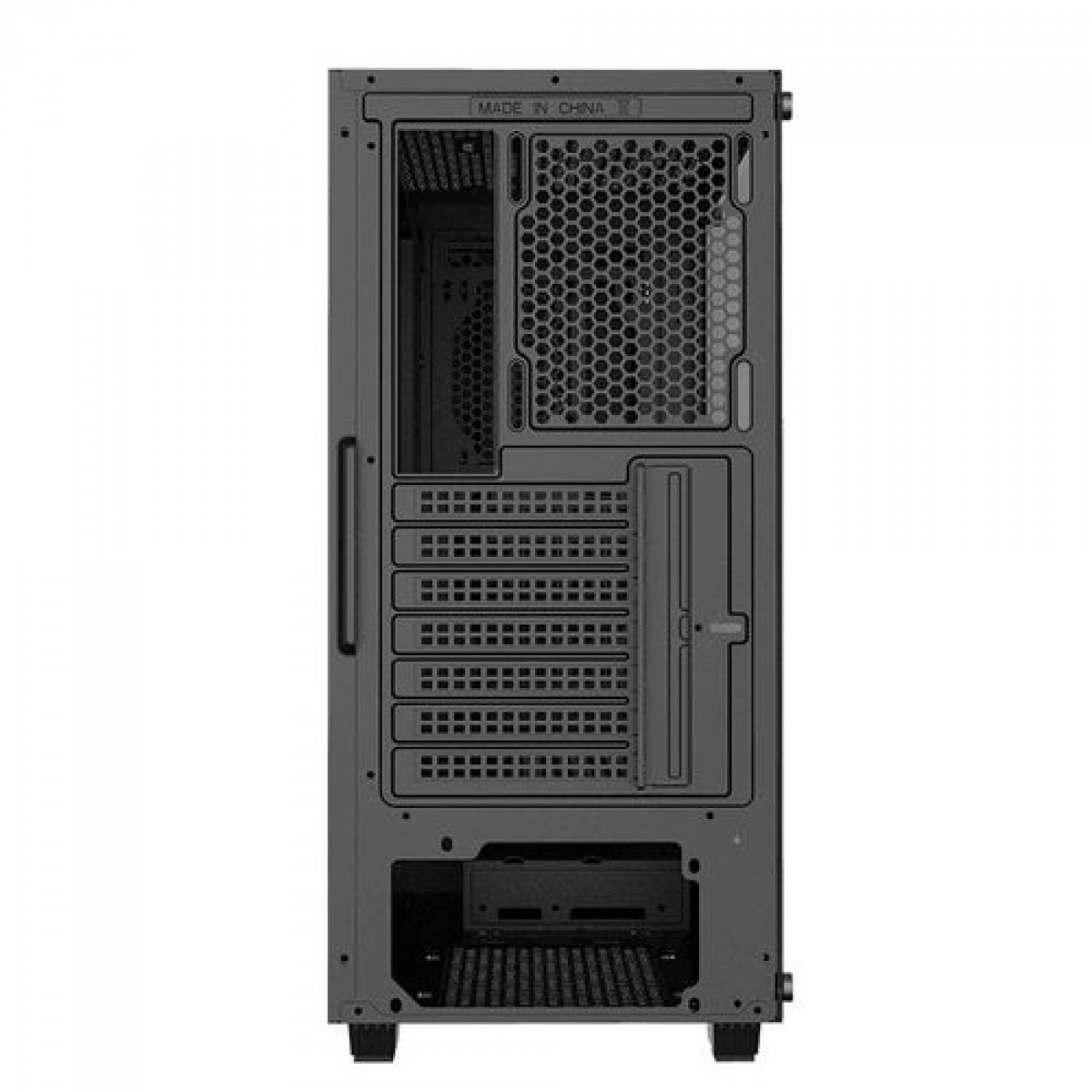 Gabinete Gamer Gamemax Diamond 3601, RGB,  Mid Tower, Com 1 Fan, Vidro Temperado, Black, S-Fonte