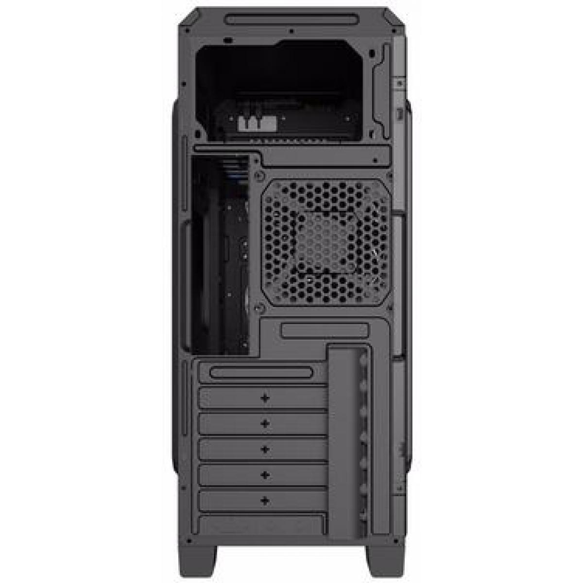 Gabinete Gamer Gamemax ECO G561 Plus, Mid Tower, Com 3 Fans Green, Black, S-Fonte