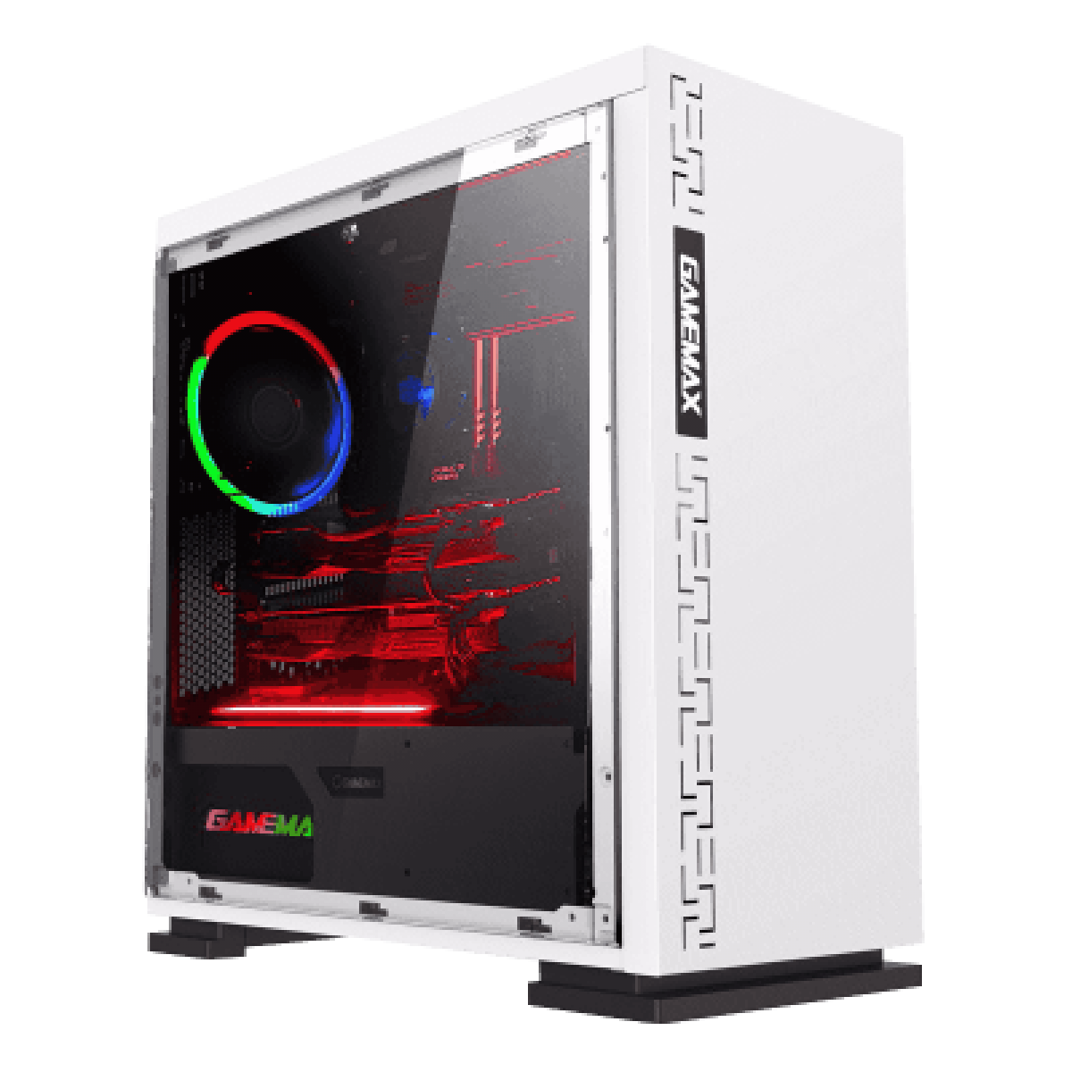 Gabinete Gamer Gamemax Expedition, Mid Tower, Com 1 Fan, mATX, Painel Lateral, White, Sem Fonte