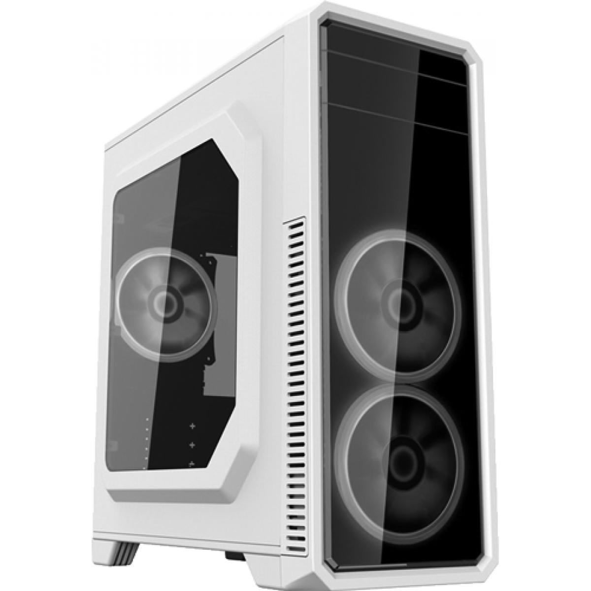 Gabinete Gamer Gamemax ECO G561 Plus Mid Tower Preto C/ LED Branco, S/Fonte, C/3 Fans