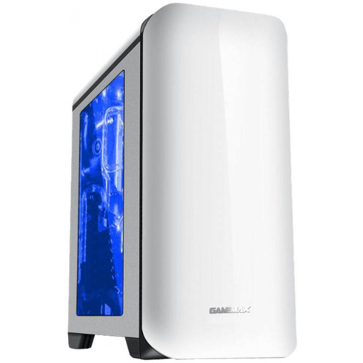 Gabinete Gamer Gamemax H602W, Mid Tower, Com 3 Fans, Painel Lateral, White, Sem Fonte