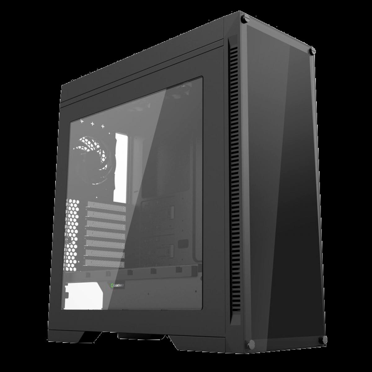 Gabinete Gamer GameMax Infinit M908 GGM RGB, Mid Tower, Com 3 Fans, Lateral Acrílico, Black, S-Fonte