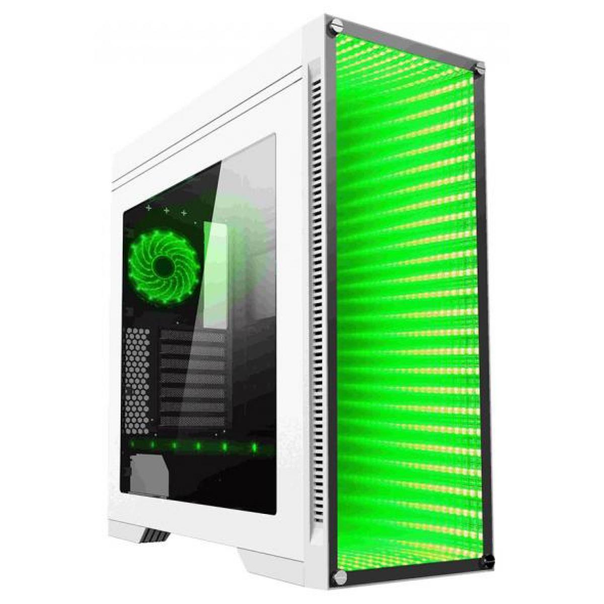 Gabinete Gamer GameMax Infinit M908 RGB, Mid Tower, Com 3 Fans, Lateral em Acrílico, White, Sem Fonte