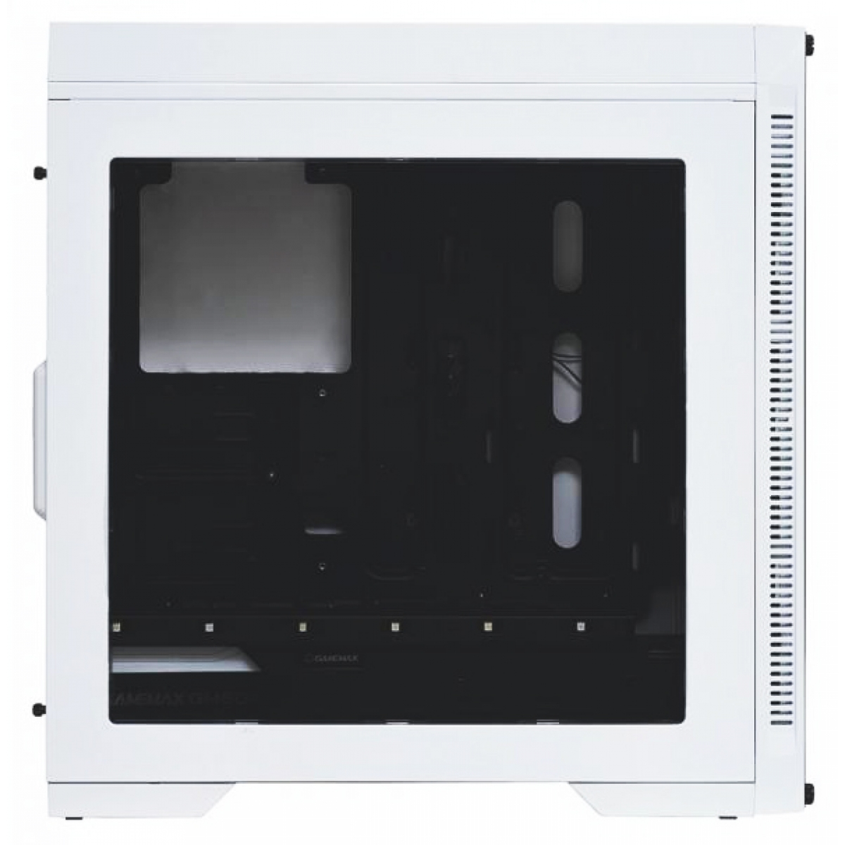 Gabinete Gamer GameMax Infinit M908 RGB, Mid Tower, Com 3 Fans, Lateral em Acrílico, White, S-Fonte