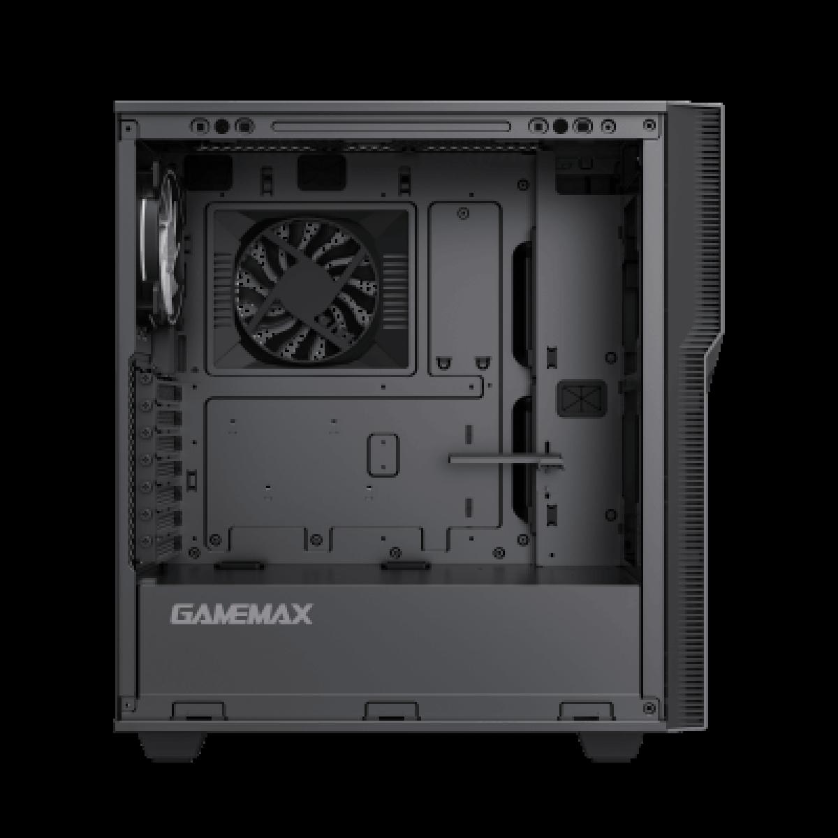 Gabinete Gamer Gamemax Ninja COC, Mid Tower, RGB, Vidro Temperado, Preto, E-ATX, Sem Fonte, Com 2 Fans
