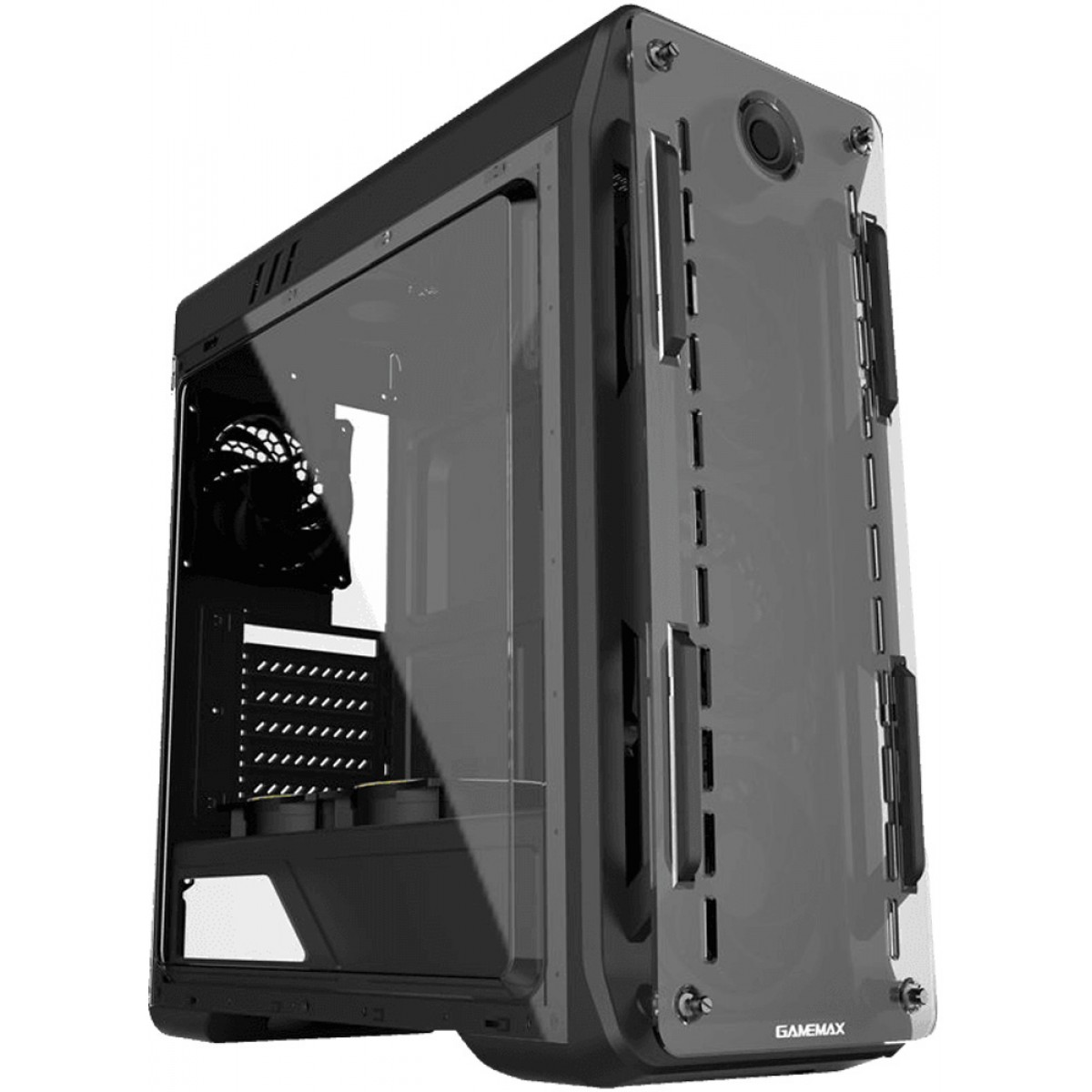 Gabinete Gamer Gamemax Optical G510, Mid Tower, Com 3 Fans, Painel Lateral, Black, S-Fonte