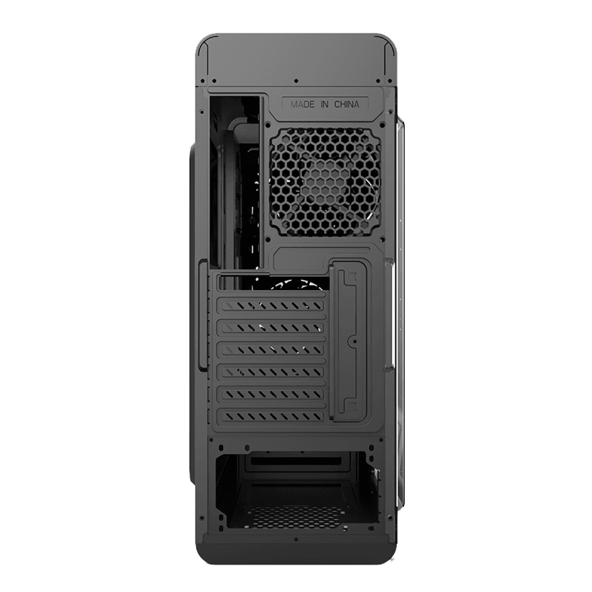 Gabinete Gamer Gamemax Optical G510, Mid Tower, Com 3 Fans, Painel Lateral, White, Sem Fonte