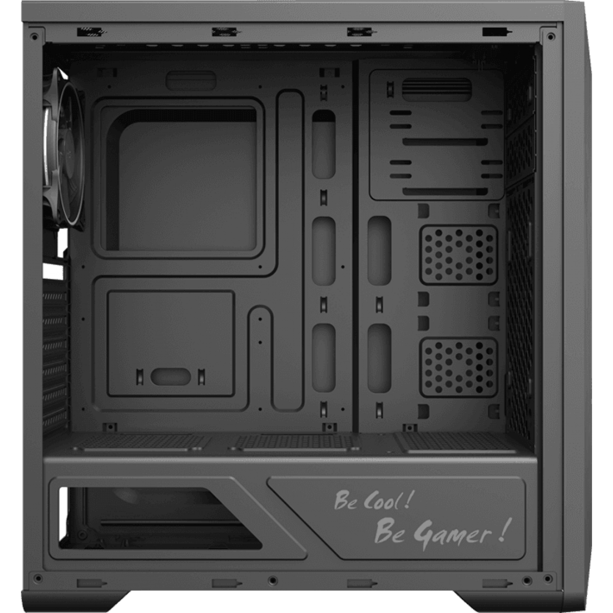 Gabinete Gamer Gamemax Shine G517, Mid Tower, Com 1 Fan, Vidro Temperado, Black, Sem Fonte
