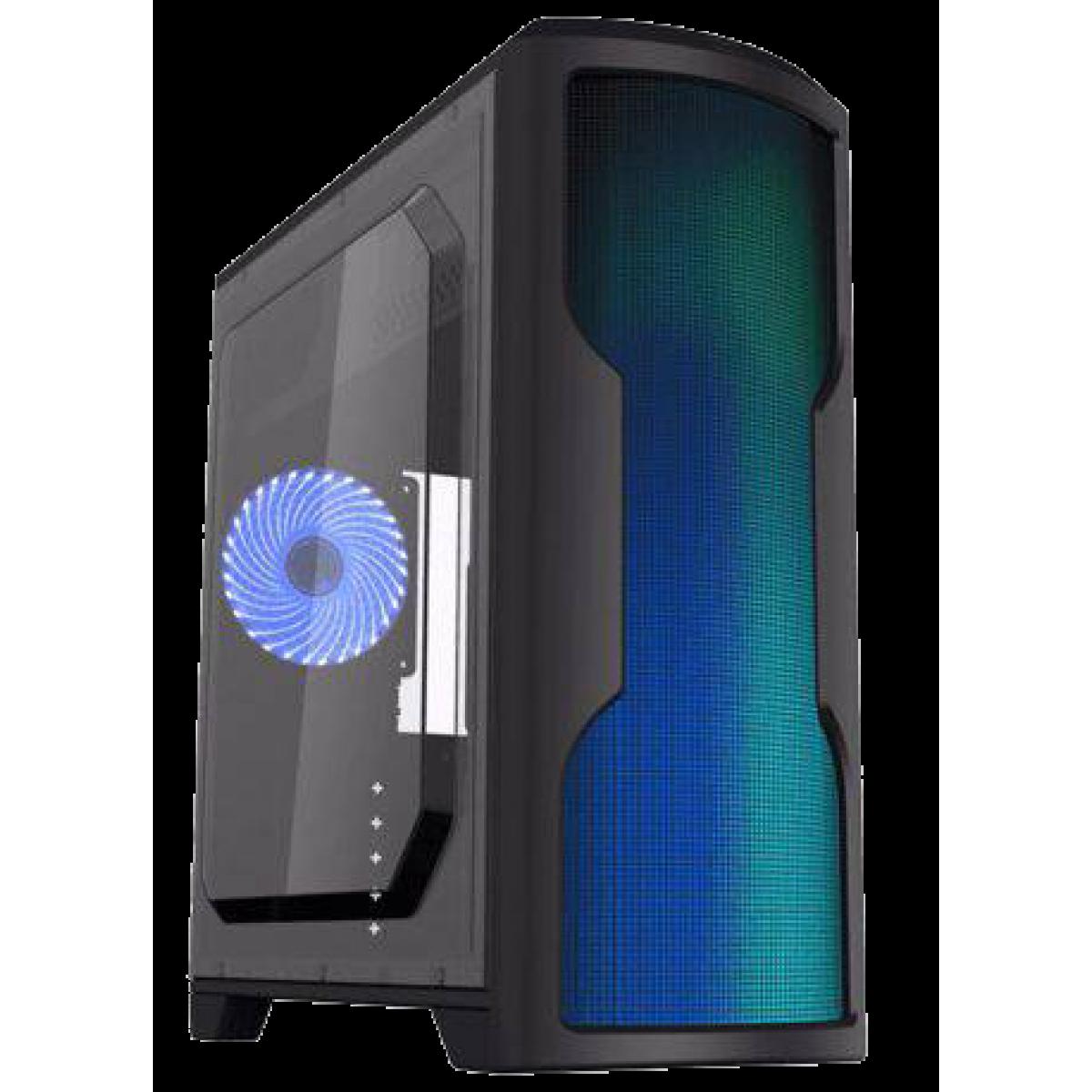 Gabinete Gamer Gamemax Wave G562W, Mid Tower, Com 1 Fan, Lateral em Acrílico, Black, Sem Fonte