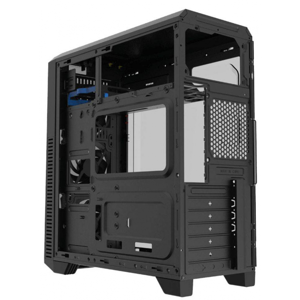 Gabinete Gamer Gamemax Wave G562W, Mid Tower, Com 1 Fan, Lateral em Acrílico, Black, S-Fonte